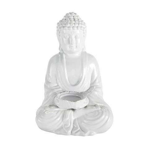 statue d 233 co bouddha blanc maisons du monde