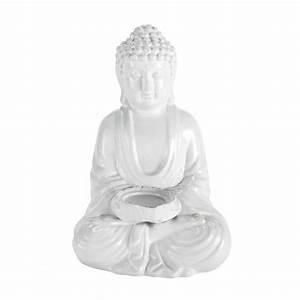 statue deco little bouddha blanc maisons du monde With bouddha maison du monde