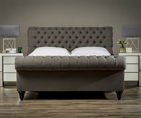 size bed frame with headboard stanhope studded chesterfield bed upholstered beds from