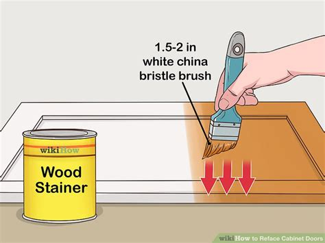 How To Reface Cabinet Doors - how to reface cabinet doors with pictures wikihow