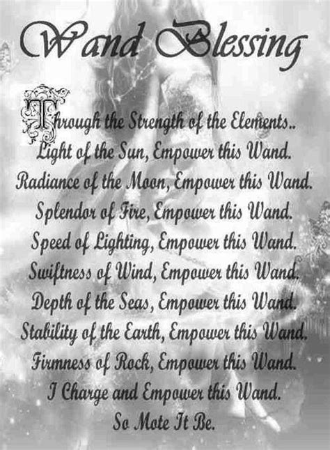 wand blessing book  shadows wicca wands