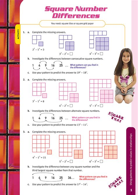 square number differences nz maths