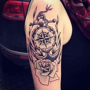 Anker Kompass Tattoo Bedeutung Tattoo Kompass Symbolische Bedeutung
