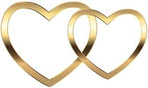 intertwined wedding rings transparent two gold hearts png clip image gallery