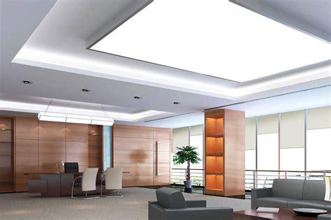 eclairage plafond bureau rénover une villa avec un plafond tendu design avec