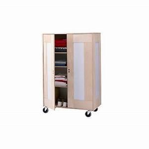 Petite Armoire Penderie : armoire penderie sur roulettes marie claire maison ~ Preciouscoupons.com Idées de Décoration