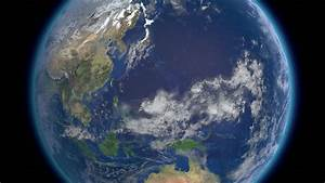 Planet Earth Rotates, Zoom To Asia 4K Ultra HD. Elements ...