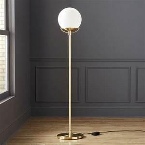 Globe brass floor lamp reviews cb2 for Next brass floor lamp