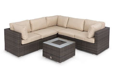Maze Rattan Corner Sofa Set by Porto Corner Sofa Set With Inset Maze Rattan