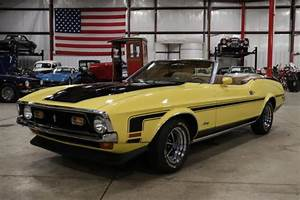 1972 Ford Mustang 99466 Miles Medium Bright Yellow Convertible 302cid V8 Automa - Classic Ford ...