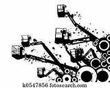 Crane Abstract Picker Cherry Illustrations Clipart sketch template