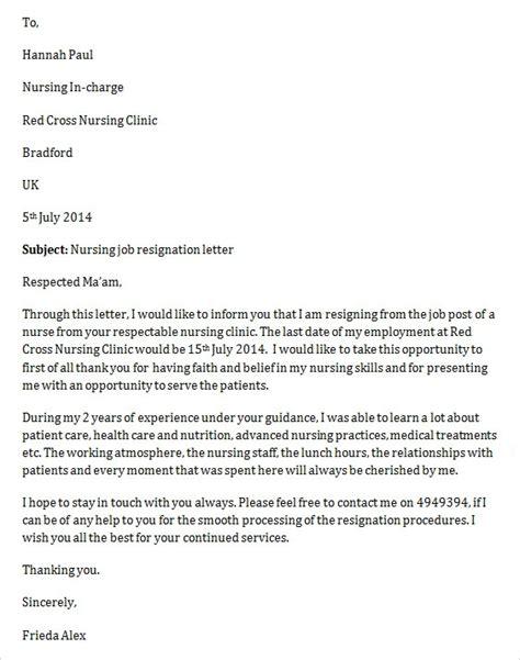 sample job resignation letter template   documents