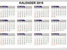 Kalender 2018 Indonesia Ferien, Feiertage, Excel PDF