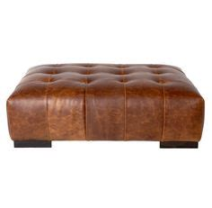 leather tableottoman shows  unique   solid