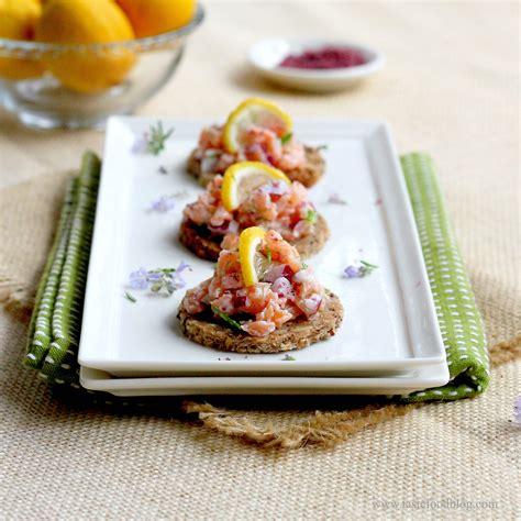 tartare cuisine smoked salmon tartare and potato chip canapes recipe