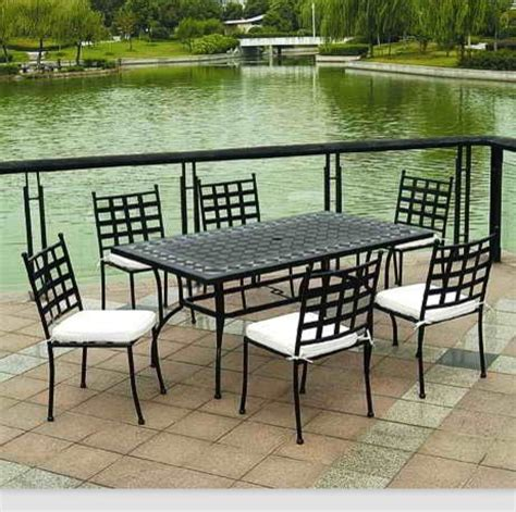 outdoor garden furniture mosaic tiles dining table chair