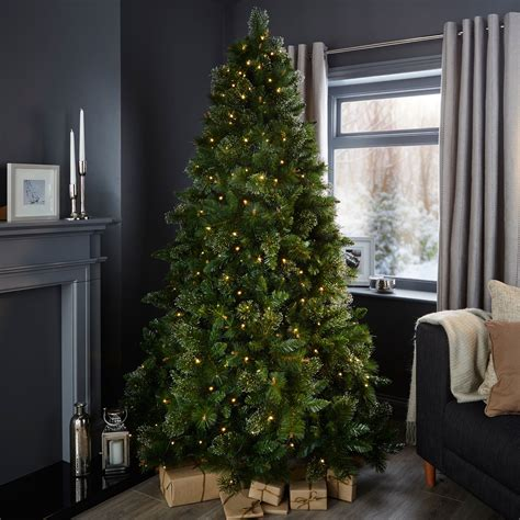 b and q artificial christmas trees 7ft cleveland pre lit tree departments diy at b q