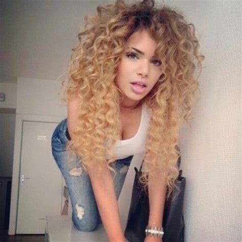 Hair Ombre Hair Color Blonde Curly Hair Honey Blonde
