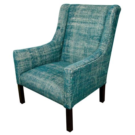 teal upholstered arm chair indian dhurrie upholstered teal arm chair at 1stdibs