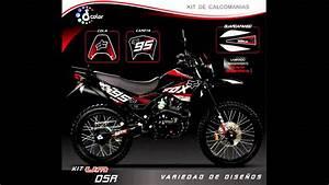 Kit De Calcomanias Personaliza Tu Moto