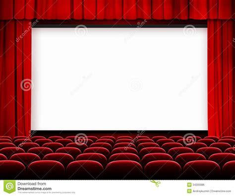 sieges de cinema occasion écran de cinéma avec les rideaux et les sièges rouges