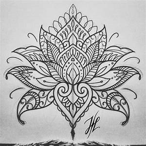 Ornamental mandala mehndi lotus design by Marjorianne ...