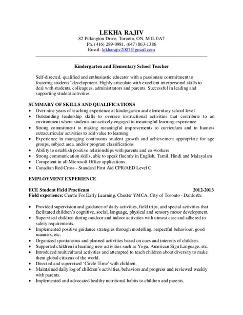 Kindergarten Teachers Resume by Resume Format Resume Format Kindergarten