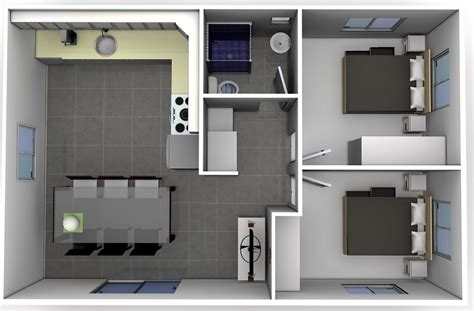 2 Bedroom Small Apartment Design by Two Bedroom Designs Smart Choice Flats