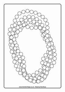 Mardi Gras Beads Colouring Page