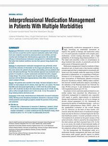 Interprofessional Medication Management In Patients With