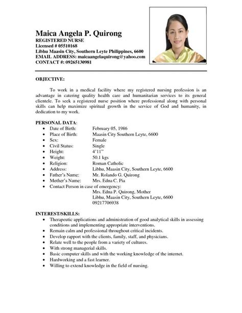 teacher applicant sample resume  fresh graduate