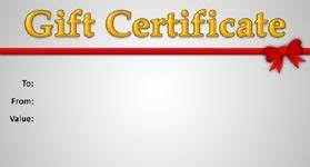 Gift Template Select a t certificate template to