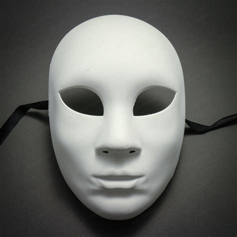 plain white blank decorating craft full face masquerade
