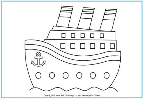 Motor Boat Outline by Boat Outline Cliparts Co