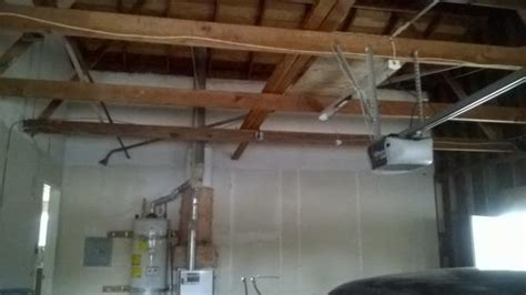 Ceiling Joist Span For Drywall by Finishing Garage With Drywall Doityourself Community