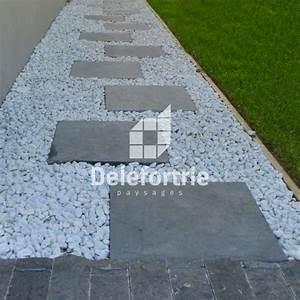 amenagement d39allees de jardin en pave de beton With marvelous entree exterieure maison contemporaine 9 entree de maison en paves de beton delefortrie paysages
