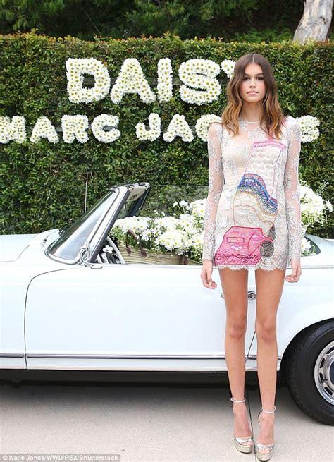 Cindy Crawford's daughter Kaia Gerber dons Marc Jacobs ...