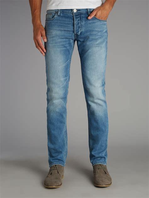 light jeans mens armani jeans light wash slim fit jean in blue for men lyst
