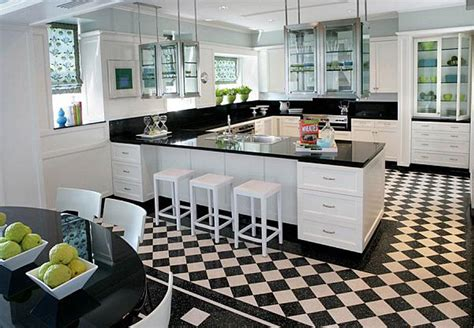 black and white kitchen floors kupujemy płytki do kuchni na co zwr 243 cić uwagę interio 7855