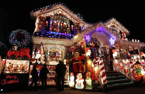 how to christmas lights on house a house is seen decorated with christmas lights in the