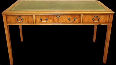 dessus de bureau en cuir bureau anglais hepplewhite en bois de merisier longfield