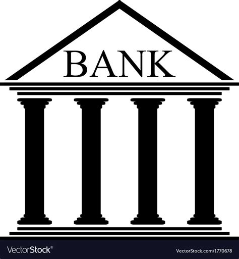 Bank Icon Bank Icon Royalty Free Vector Image Vectorstock