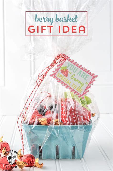 strawberry gift basket ideas  polka dot chair