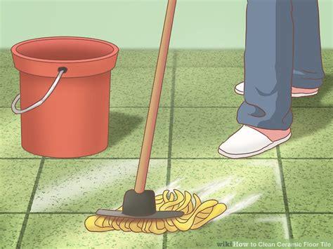 how to clean ceramic tile kitchen floor 3 ways to clean ceramic floor tile wikihow 9329
