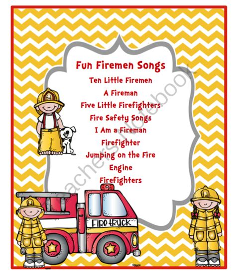 free fireman song from preschool printables on 725 | b441c8ccf2f0b001296eec0b91cc6d04