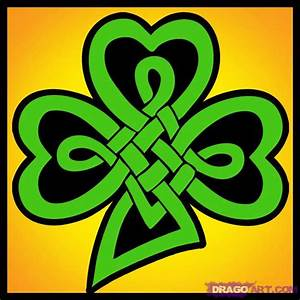 How to Draw a Celtic Clover Knot, Step by Step, St ...