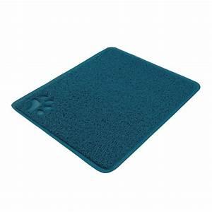 Tapis Bleu Petrole : tapis de sol en pvc tapis de sol pour chat trixie wanimo ~ Teatrodelosmanantiales.com Idées de Décoration