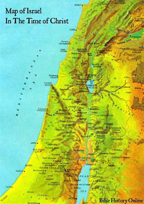 map  israel   time  christ israel st century