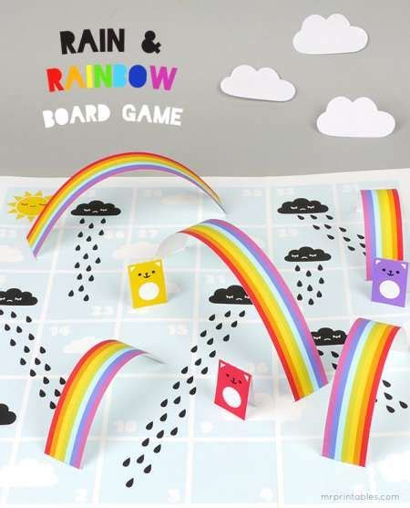 printable rainbow board game  images board games