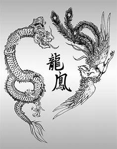 Chinese dragon and phoenix tattoo meaning